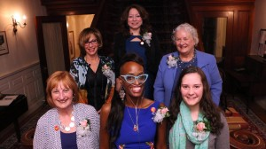 From left to right: front row Sherry Brown, Mnikesa Whitaker, Grace Bergin; back row Shari Cantor, Iris Ramos, Doe Hentschel